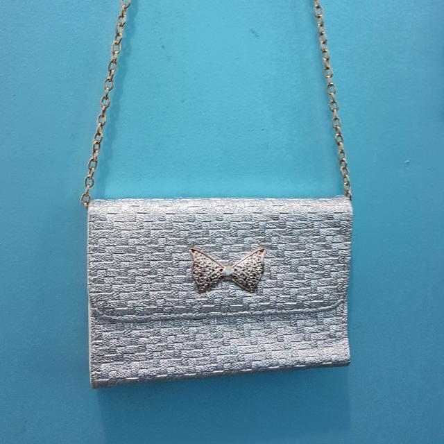 Silver Sling Bag