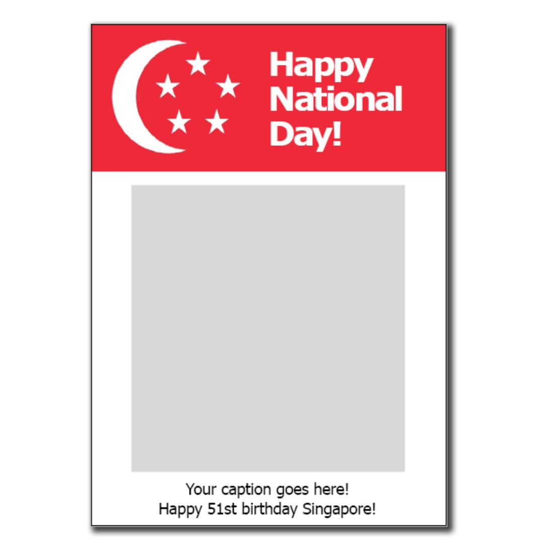 Singapore NDP Large Photo Booth Frame Prop - Personalized on Carousell