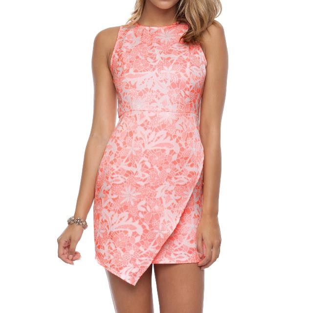 Size M Pink And White Party Dress