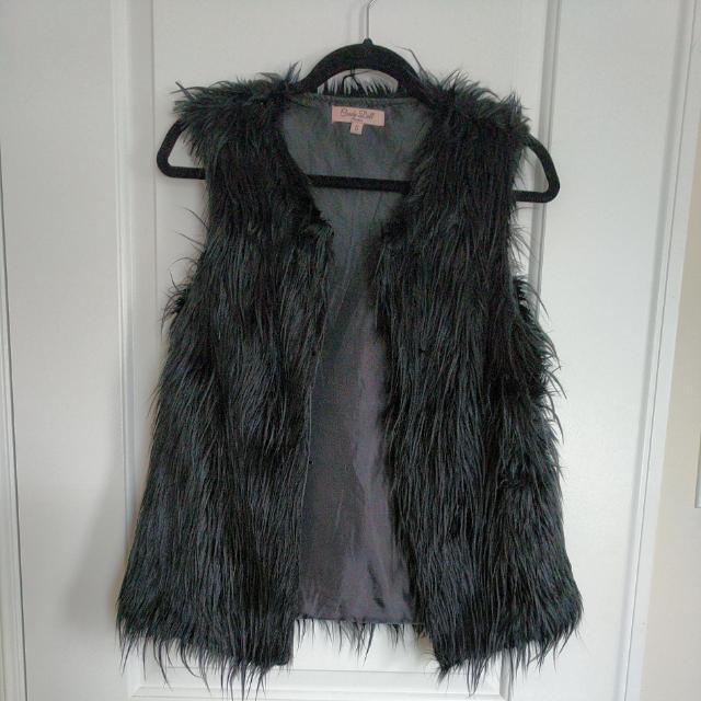 Size Small Black Fur Vest