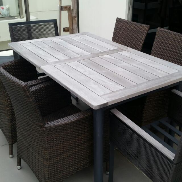 Outstanding Solid Teak Outdoor Dining Furniture Furniture Tables Home Interior And Landscaping Ologienasavecom