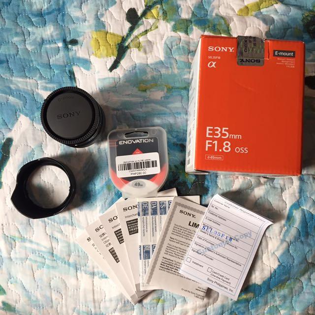 Sony E35mm F/1.8 OSS Lens