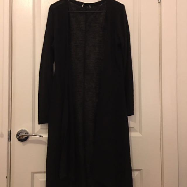 Thin black long Cardigan