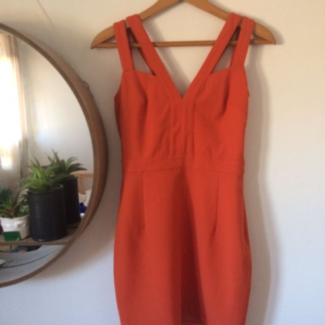 Tight Cut out Orange Dress MYER