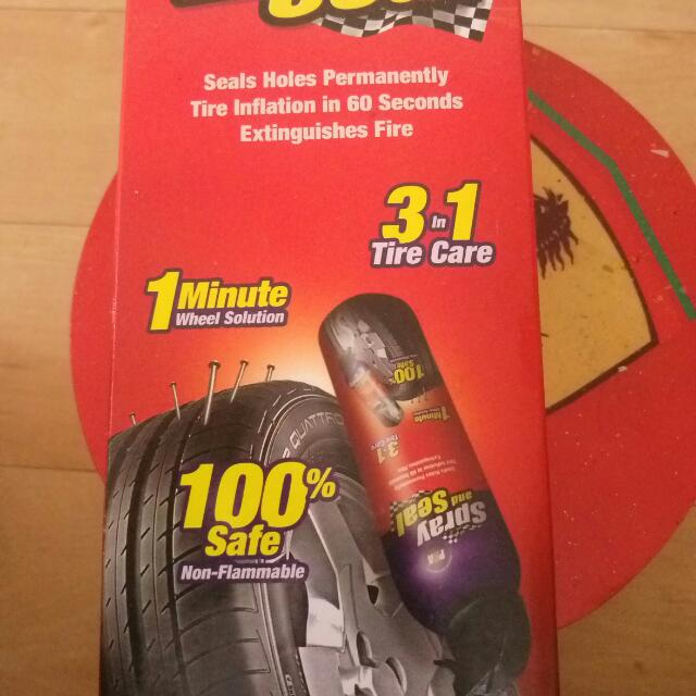 Tire Sealant Spray And Seal Brand on Carousell