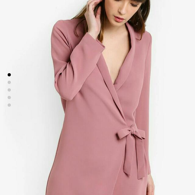 d826f6ccaa66 Topshop Tie Side Blazer Dress By Zalora US4, Women's Fashion, Clothes,  Dresses on Carousell
