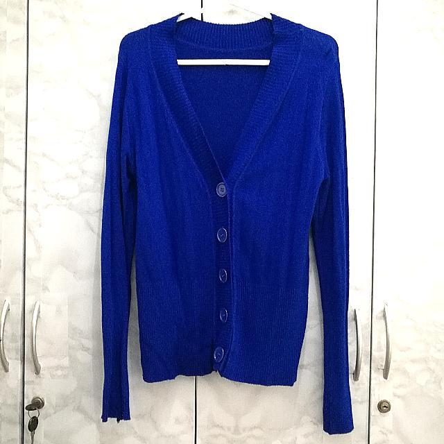 Unbranded Royal Blue Cardigan