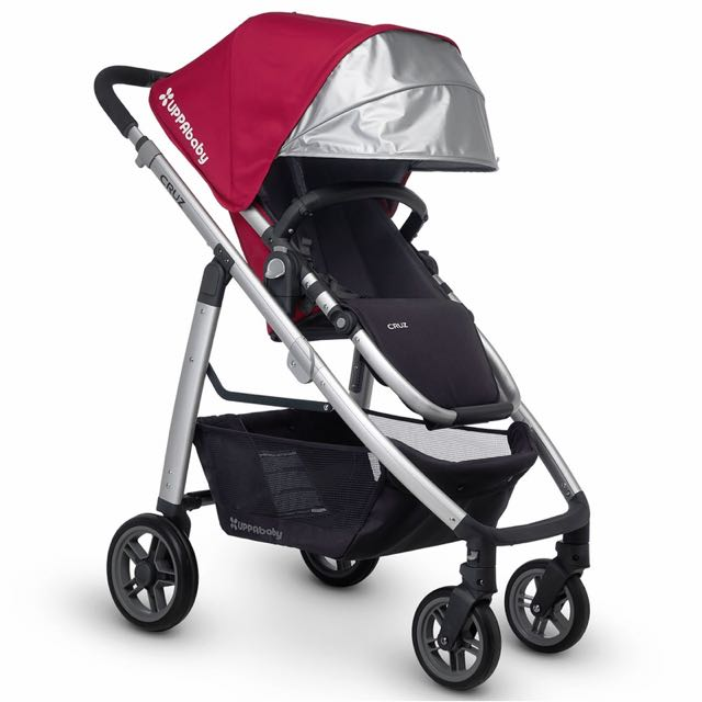 Uppababy Cruz (gray frame) Denny (red)