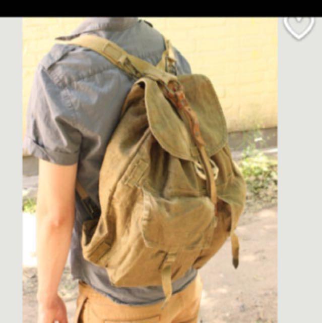 vintage 老物件 古著  瑞士 軍用後背包