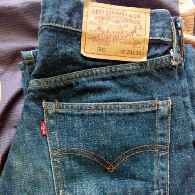 Vintage Levi\'s big \'E\' 502 jeans, Men\'s Fashion, Clothes on Carousell