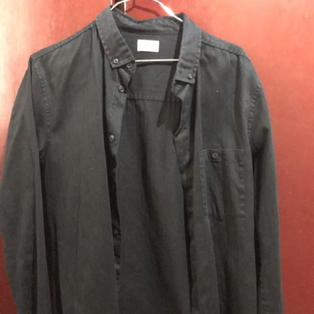 Weekday Black Oxford Shirt