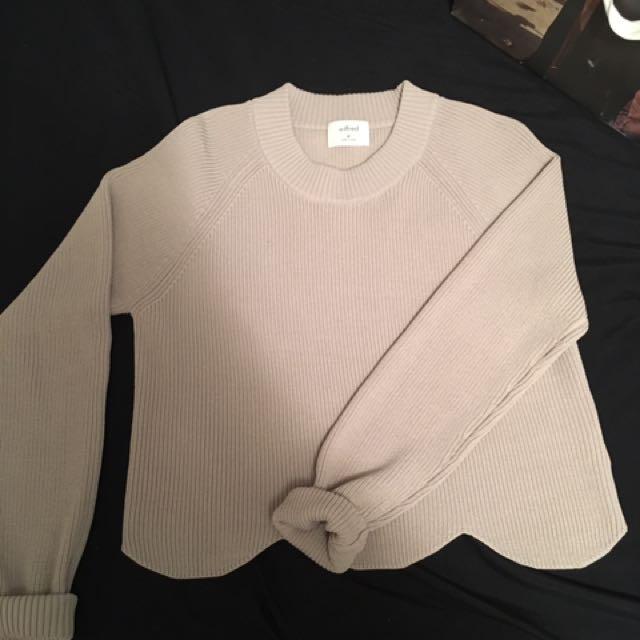 Wilfred Sardou Scalloped Sweater