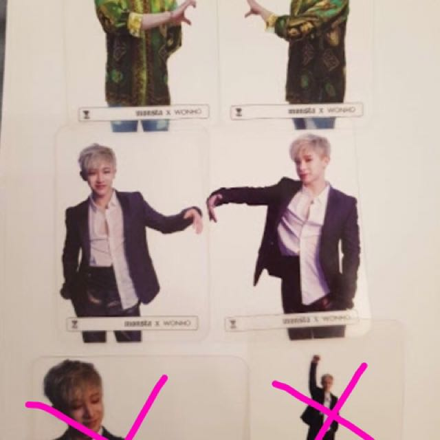 ✨WTB Monsta x WONHO TRANSPARENT CARDS ✨