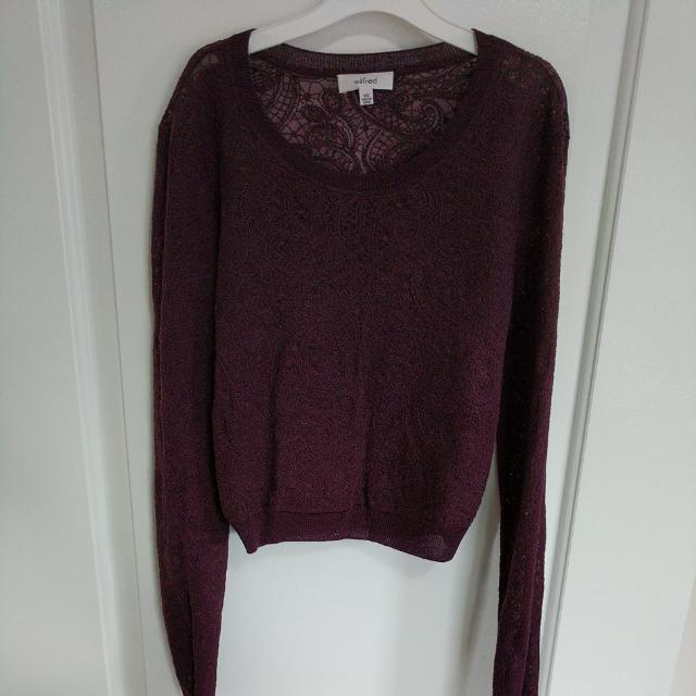 XXS Wilfred Sheer Lace Crop Top