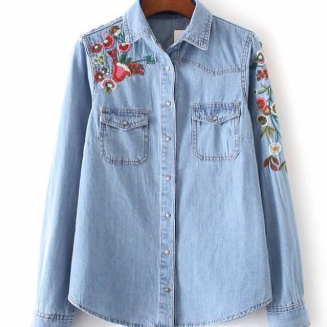 Zara Denim Embroidery (inspired Ya)