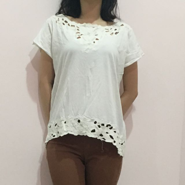 Zara Off white top size M
