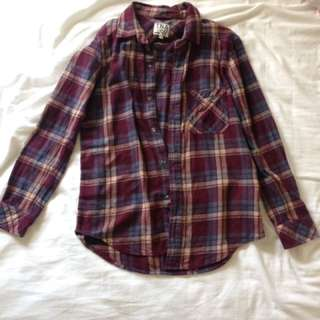 *REDUCED* TNA Maroon Flannel