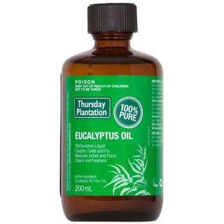 澳洲天然尤加利精油 Eucalyptus Oil