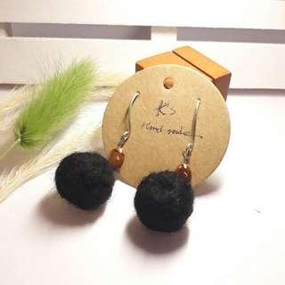 K'S手工設計 羊毛氈垂墜耳環 可訂製