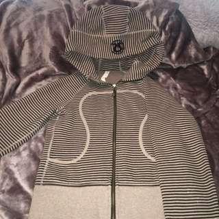 Brown Stripe Lululemon Sweater