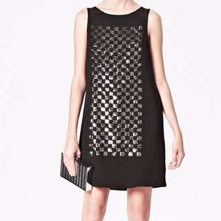 French Connection - Checkered Sequin Dress (New with tags)