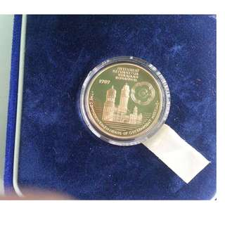 Malaysia Commonwealth Heads of Goverment Meeting Proof Coin RM5 1989