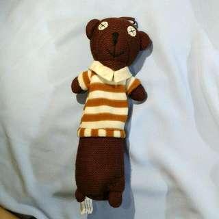 pencil case (mr.bean's beloved teddy)