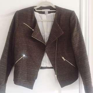 H&M Olive Blazer w/ zipper details