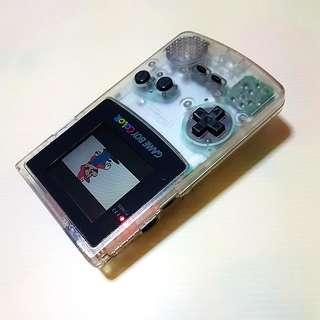 Nintendo Game Boy Color  CGB-001   CLEAR TRANSPARENT