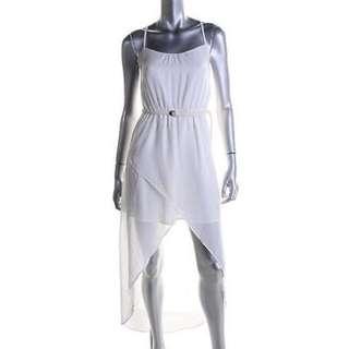 White Chiffon Zara High-Low Dress