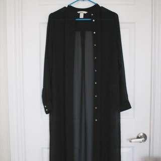 Black Long Mesh Jacket