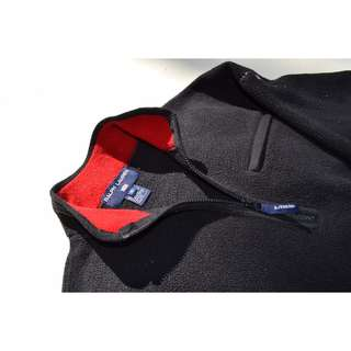 VTG Mens Polo Sport Half Zip Fleece Size S