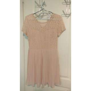 F21 BLUSH LACE DRESS