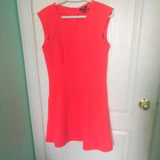 H&M HOT PINK FIT&FLARE DRESS