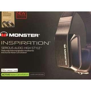 Monster Inspiration Over Ear Noise Cancelling Headphones