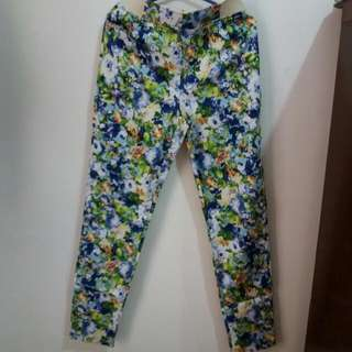 Repriced!!! Floral Stretched Pants