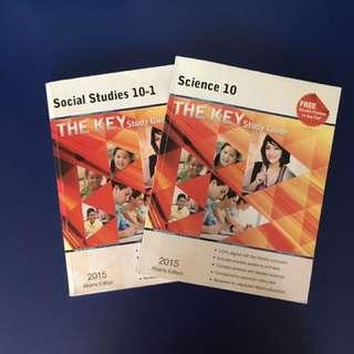 Social 10-1 and Science 10 Alberta Key Books