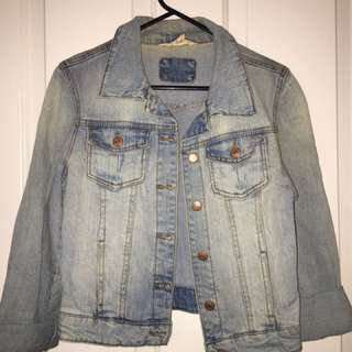 Jay Jays FAUX denim Cropped Jacket