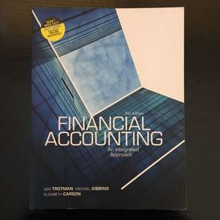Financial Accounting An Integrated Approach 5ED