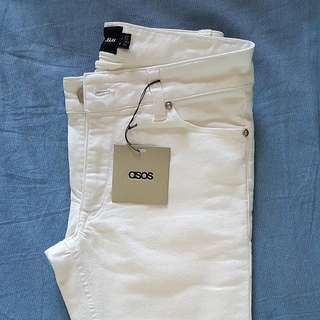ASOS Super Skinny White Pants 28""