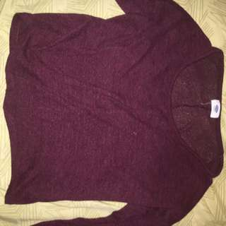 Burgundy Long Sleeve