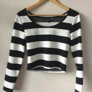 Striped Cropped Top