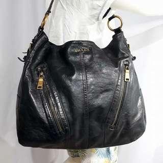 Authentic Prada Distressed Leather