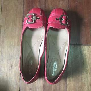 Naturalized Red Leather Flats