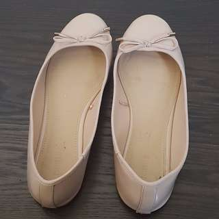 NwithoutT Forever 21 - Nude Beige Patent Ballet Flats - 8.5