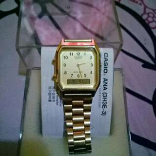 Casio AQ230 GOLD ORIGINAL