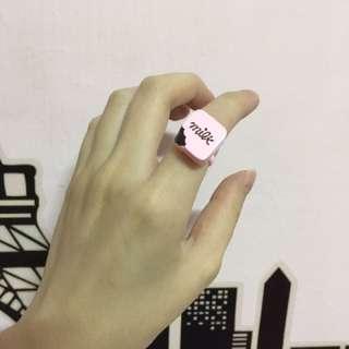 Rinco琳果 巧克力造型戒指
