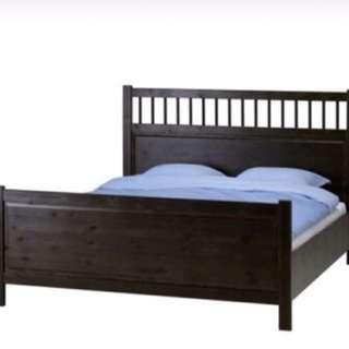 Black IKEA King Bed