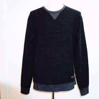 G-STAR RAW rugby top with elbow patches
