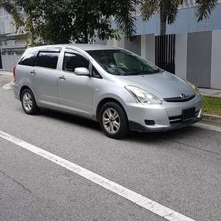 Toyota Wish 1.8A MPV For Grabcar UBER Rental